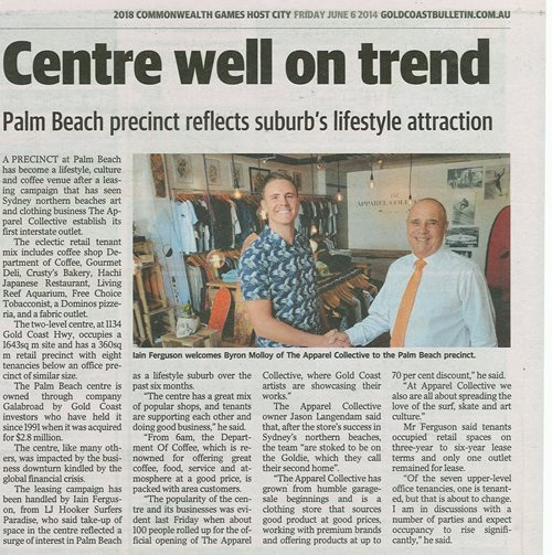 Centre Well On Trend - Palm Beach Precinct Reflect's Suburbs Lifestyle Attraction